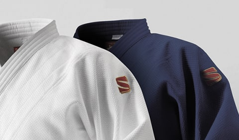 白と青の九桜柔道衣